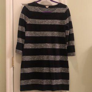 J Crew Knit Wide Stripe Dress